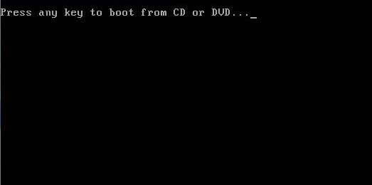 Press aykey to boot from CD