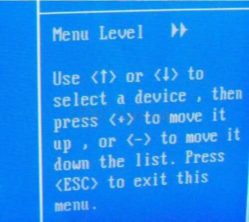 Подсказки в BIOS